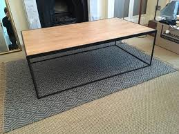 metal frame coffee table sold sold sold metal frame coffee table wooden plank top jensen