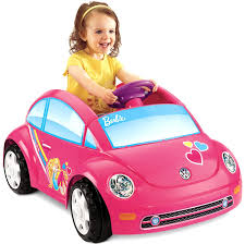 barbie red cars girls car powerwheels barbie pink ride along mini car for toddlers