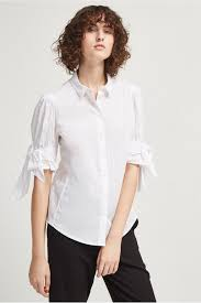 white bow blouse eastside cotton bow shirt collections connection