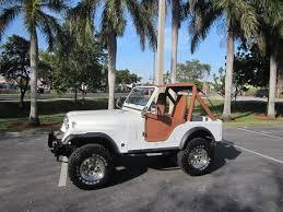 brown jeep cj7 renegade 1977 jeep cj fully restored 4x4 6 cyl lifted pearl white clean fl