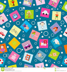 kids wrapping paper wrapping paper for kids with toys stock vector image