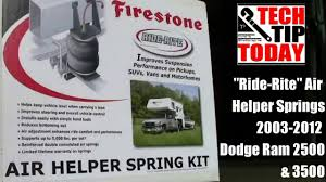 firestone 2299 ride rite air bags dodge ram 2500 3500 2003