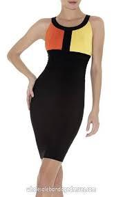 leger on sale halter bandage dress evening party dresses orange