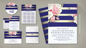 navy and blush wedding invitations vintage wedding wedding invitations by jinaiji