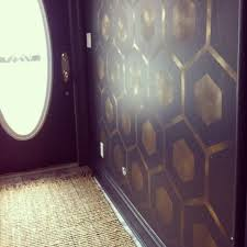 wall paint stencils modern with masculine dark blue and gold color