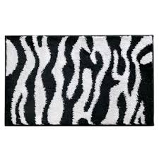 Zebra Bath Rug Buy Black White Bath Rug From Bed Bath Beyond