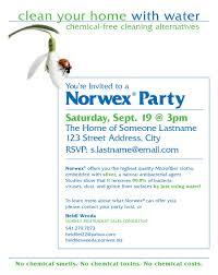 norwex party invitation cloveranddot com