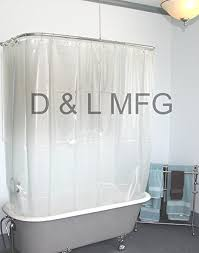 Design Clawfoot Tub Shower Curtain Rod Ideas Charming Wide Vinyl Shower Curtain For A Clawfoot