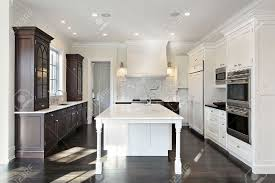 Kitchens With Light Wood Cabinets Kitchen In New Construction Home With Dark And Light Wood