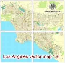 los angeles map pdf los angeles grande map california us printable vector city