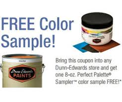 free 8oz dunn edwards paint sampler coupon free product samples