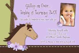 cowgirls at heart horse custom photo birthday invitation