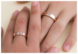 wedding bands his and hers matching gold tone tungsten wedding rings for him and