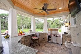 cuisine d été couverte design exterieur cuisine d été extérieure couverte plan travail