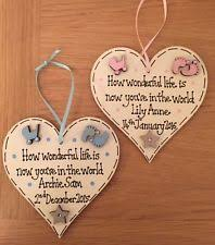 baby plaques wooden children s heart baby decorative plaques signs ebay