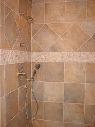 Ceramic Tile Shower Design Ideas Wonderful Simple Tile Shower Design Ideas Featuring Cream Ceramic