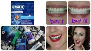 crest 3d white whitestrips with light review oral b 3d white whitestrips review results youtube