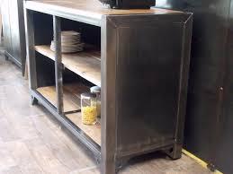 cuisine en metal meuble de rangement cuisine bois métal sur mesure micheli design