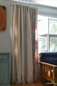 diy drop cloth curtains modified for a large window refresh living