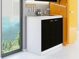 kitchen sink cabinet doors kiho kitchen sink cabinet w 1 shelf 2 doors black white ebay