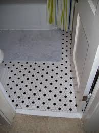 black and white hexagon bathroom floor tile bathroom design