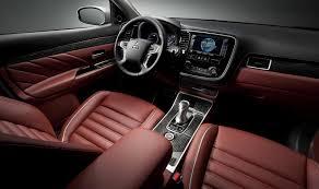 mitsubishi outlander interior 2017 mitsubishi outlander phev concept s previewed ahead of paris motor
