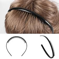 metal headbands 1 pc men s fashion black metal toothed sports hair band football