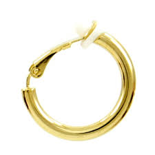 gold clip on earrings men s single goldtone hoop clip on earring