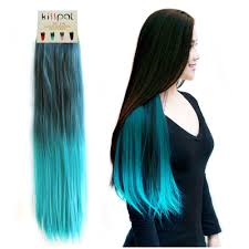 clip in hair extensions for hair kisspat turquoise fashion ombre dip dyed