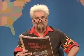 snl spoofs fieri review spat in unaired sketch time