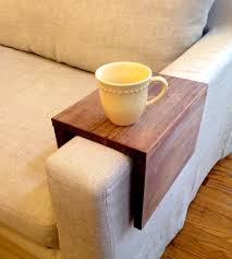 Diy Wooden Couch Wood Couch Arm Shelf U2013 Large Woods Diy Ideas And Sofa Tables