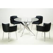 Contemporary Black Dining Chairs Dining Room Leather Dining Chairs For Comfort Seat Fileove
