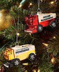 nhl blown glass zamboni ornaments the lakeside collection