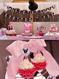 polka dot u0026 pink minnie mouse first birthday party hostess with