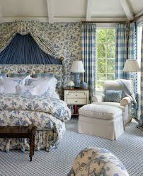 Blue And White Bedrooms Floral Interiors By Color 51 Interior Decorating Ideas
