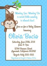 monkey boy baby shower invitations wblqual com