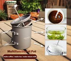 Portable Coffee Grinder Alocs Cw K10 Outdoor Home Press Pot Kit Hand Manual Coffee Bean