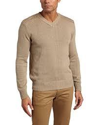 dockers s cotton fancy v neck sweater khaki small at