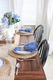 white and blue coastal table starfish cottage share your craft
