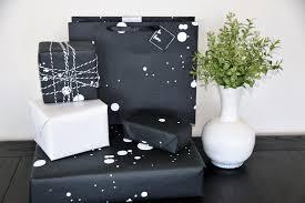 black gift wrap gift wrap modern dot black and white marble vine