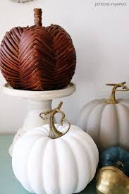 chalk paint fall crafts painted pumpkins perfectly imperfect