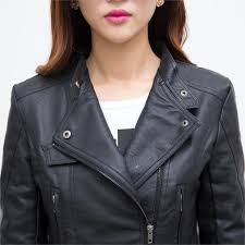 motorcycle biker jacket online shop women leather jacket with bulk classic black girls