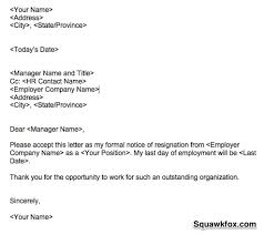 resume examples templates how to wright a letter of resignation