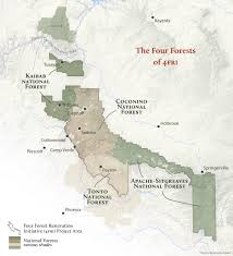 Grand Canyon Arizona Map by Arizona Forests Four Forest Restoration Initiative Grand
