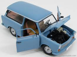 blue station wagon sun star 04275 scale 1 18 trabant 601 universal de luxe