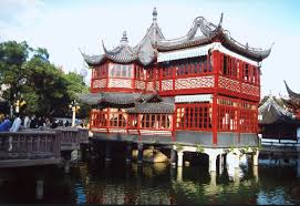 internchina famous tea house in old city shanghai