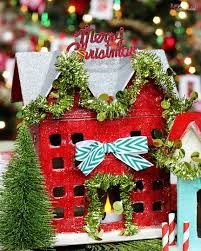 diy miniature holiday houses christmas decor craft idea
