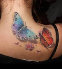 cool 3d butterfly back tattoo for tattooshunter com
