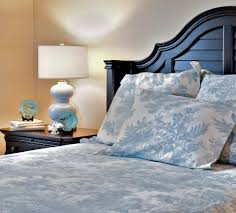 magnificent blue toile bedding decorating ideas images in bedroom