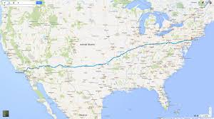 Us New York Map by The Crew U0027s Travel Distances Compared To The Real World 3 893